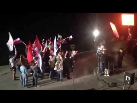 Ukraine War - Russian TV shoots s scene of mass rally in annexed Crimea