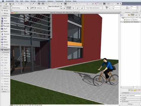 ArchiCAD 14 New Features - Shadows in Open GL 3D View