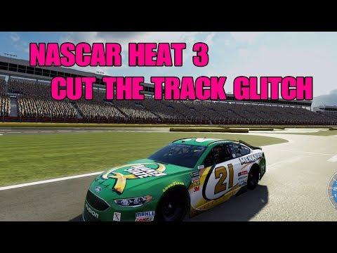 CUT THE TRACK GLITCH   NASCAR Heat 3