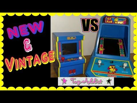 Ms Pac Man Basic Fun Arcade Game Unboxing & Comparison To Vintage Coleco Arcade Game ~ Toy-Addict