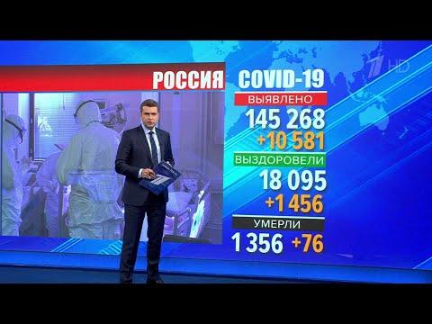 В России за сутки выявлен 10581 новый случай коронавируса.