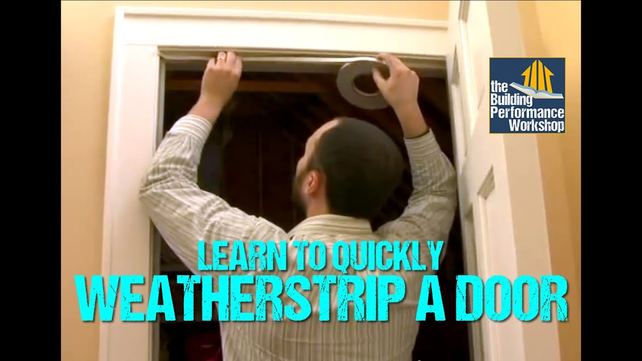 How To Weatherstrip Doors Diy Home Improvement Youtube