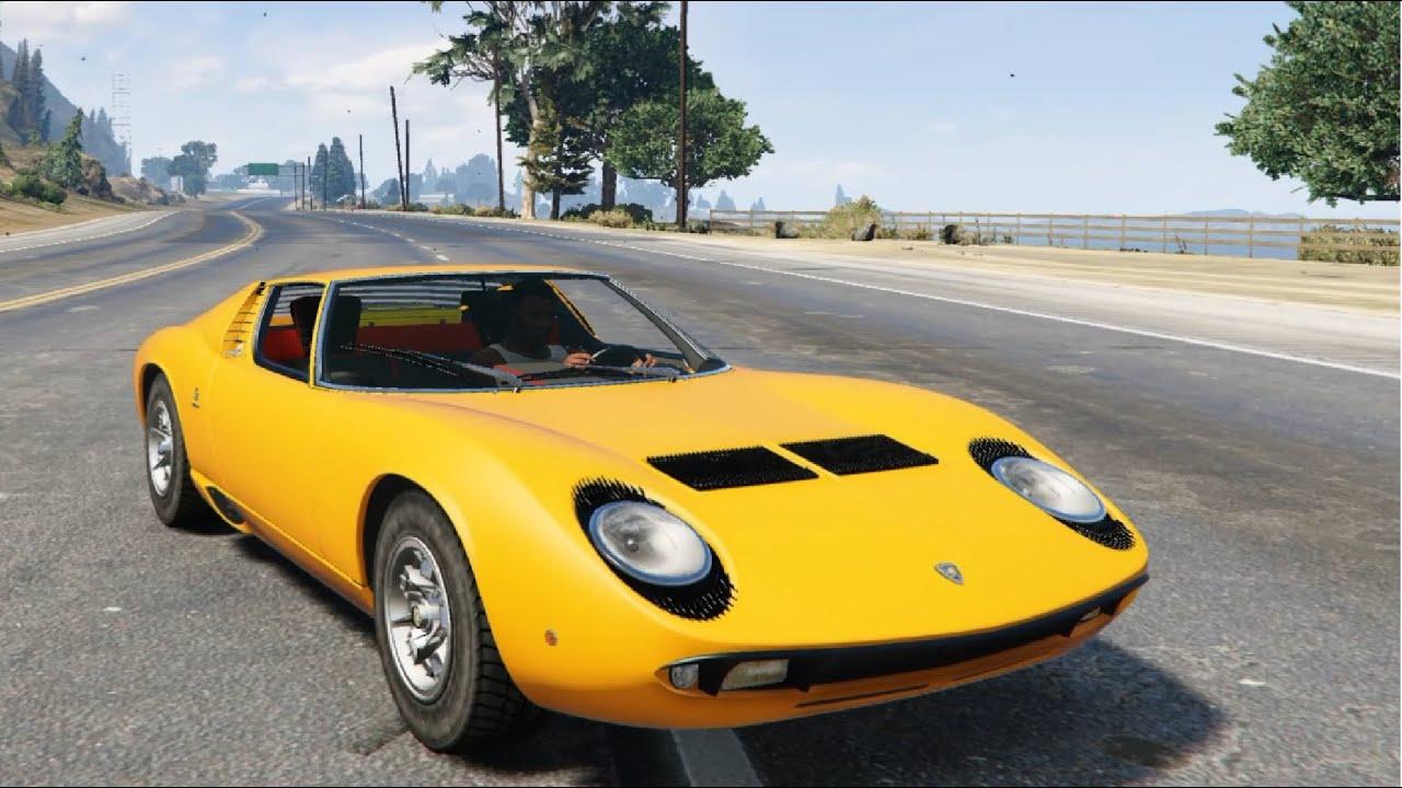 Gta V 1967 Lamborghini Miura P400 Mods Modification Youtube