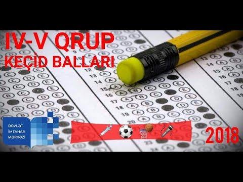 Iv V Qrup Uzre Kecid Ballari 2017 2018 Qabiliyyet Ballari Pdf