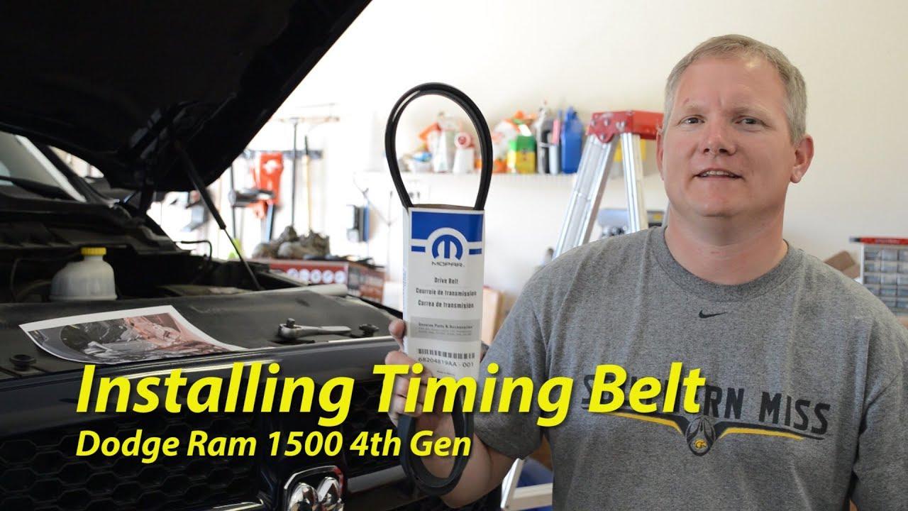installing a new serpentine belt dodge ram 1500 4th gen [ 1280 x 720 Pixel ]