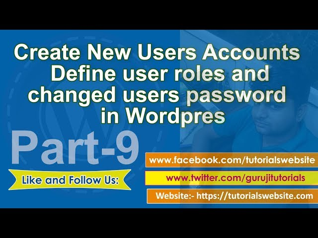 wordpress tutorial in hindi step by step- Part-9: Add new user ,edit and delete users to wordpress