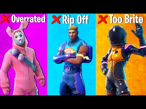 TOP 10 FORTNITE SKINS I REGRET BUYING (do NOT buy these skins)