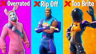 10 FORTNITE SKINS YOU SHOULD NEVER BUY (rip my wallet)