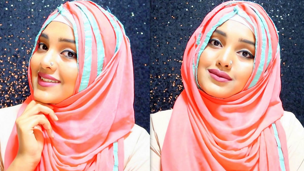 2019 year looks- How to hijab wear with long dupatta