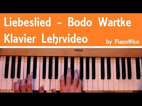 Liebeslied | Bodo Wartke | Klavier Lehrvideo [Tutorial] | How To Play | HD
