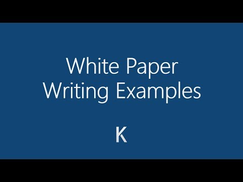 Examples of How to Write White Papers