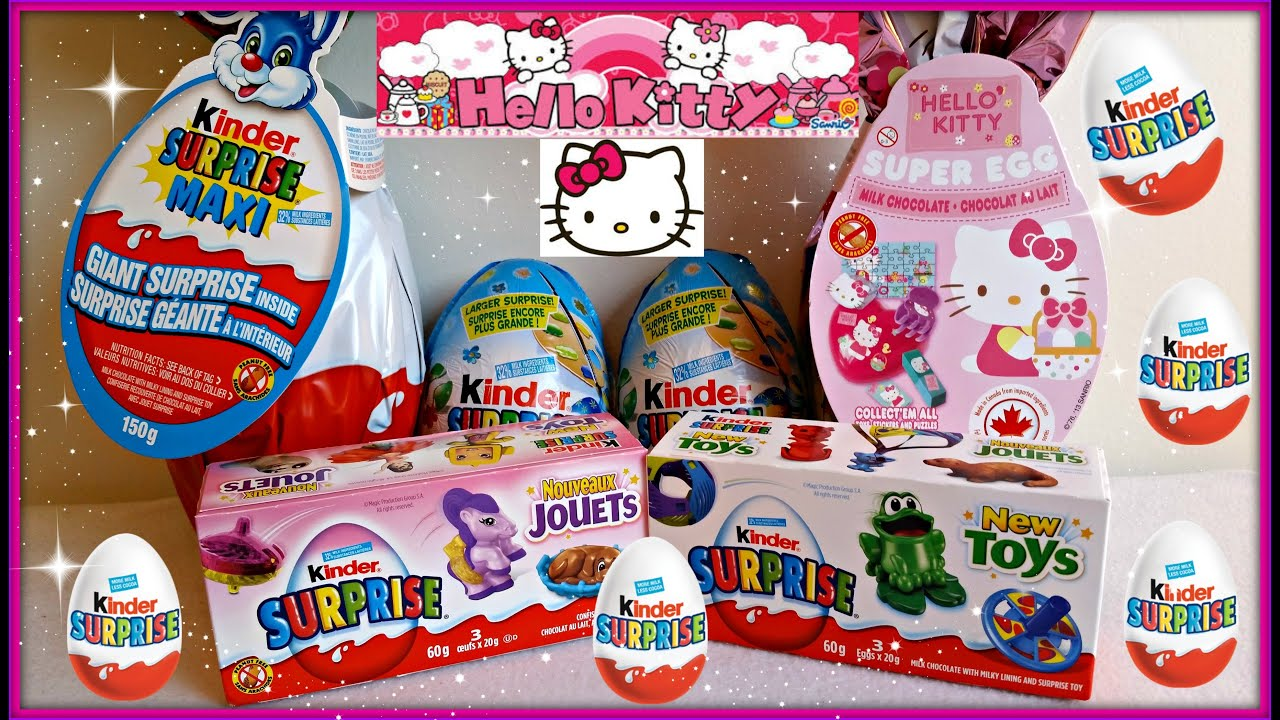 hello kitty surprise egg kinder surprise maxi youtube. Black Bedroom Furniture Sets. Home Design Ideas