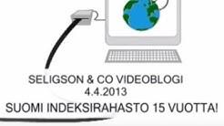 SELIGSON & CO VIDEOBLOGI - 4.4.2013 - SUOMI INDEKSIRAHASTO 15 VUOTTA