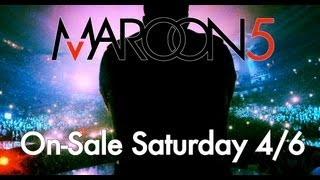 Maroon 5 - Tickets On-Sale Now!