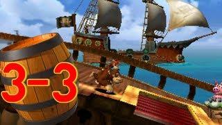 Donkey Kong Country Returns 3D World 3-3 Mast Blast