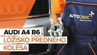 Ako vymeniť ložisko predného kolesa na AUDI A4 B6 [NÁVOD]