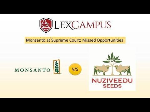 Patent Agent Exam- Patent Infringement Case Between Monsanto Technology LLC V Nuziveedu Seeds
