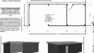 PDF Barn Plans - G398, Wick 8002-55, 12 X 36 Pole Barn