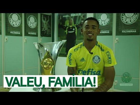 Gabriel Jesus se despede da Família Palmeiras