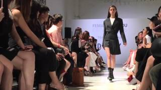 female nuyou catwalk 2016 featuring dkny