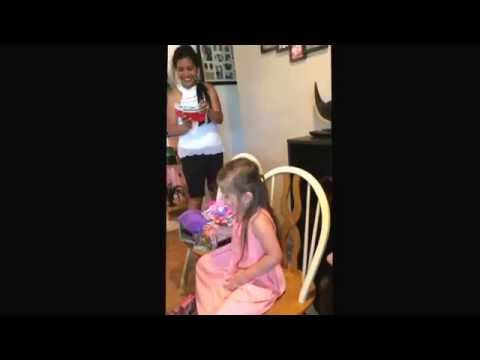 Surprise!!! 4 year old gets a Persian kitten for her birthday!!!!