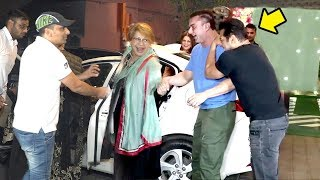 Salman & Sohail's CUTE Moment Doing MASTI With Mother Helen At Salman Khan's Diwali Party 2018