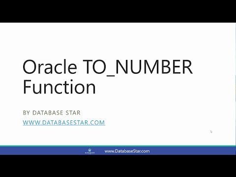 Oracle TO_NUMBER Function
