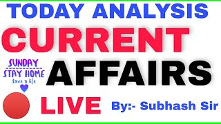 ANALYSIS CURRENT AFFAIRS 2021 #LIVE CLASS FOR SSC,RRB,POLICE