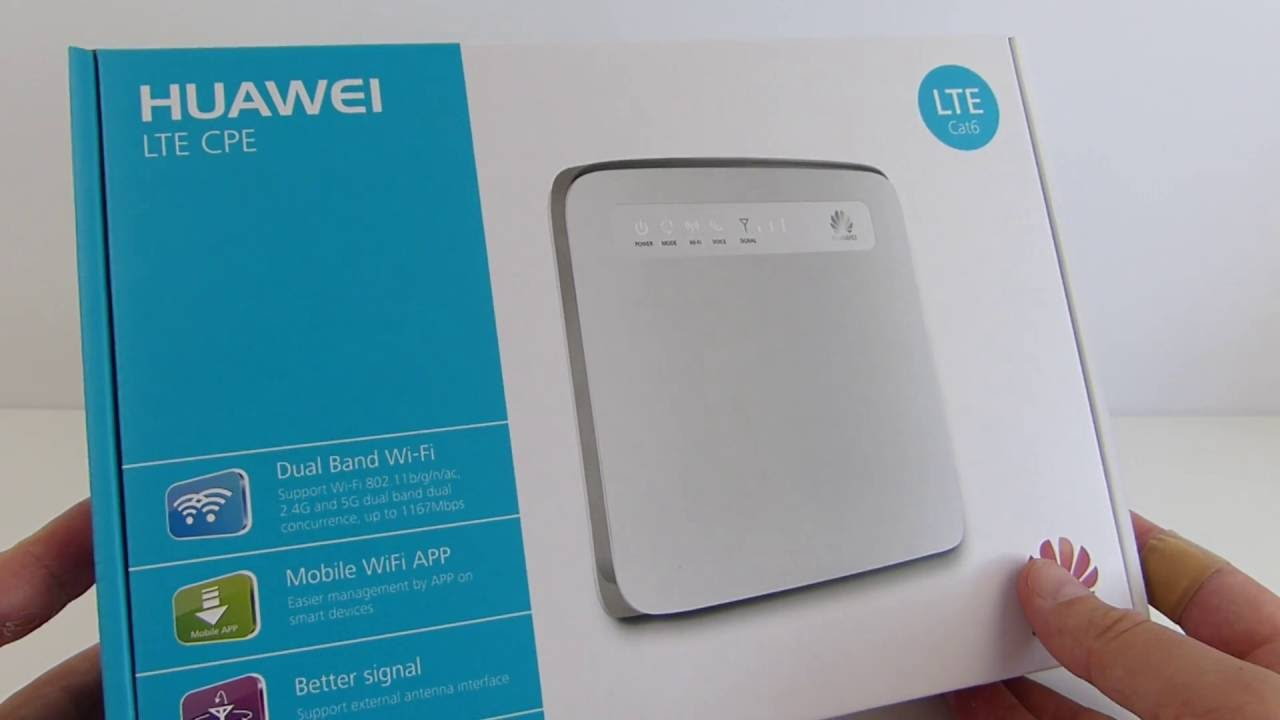 Router Huawei E5186s unboxing