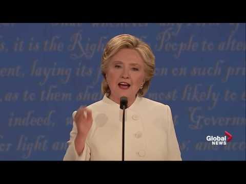 Presidential debate: Hillary Clinton calls Donald Trump a puppet for Vladimir Putin