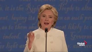 Presidential debate: Hillary Clinton calls Donald Trump 'a puppet' for Vladimir Putin