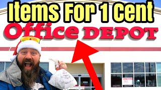 EPIC Penny Shopping Haul At Office Depot 118 ITEMS UPC Visuals