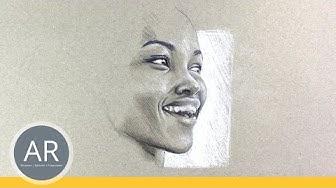 Gesichter einfach zeichnen lernen. Super Zeichentechniken für Portrait-Bilder. Zeichne dein Porträt