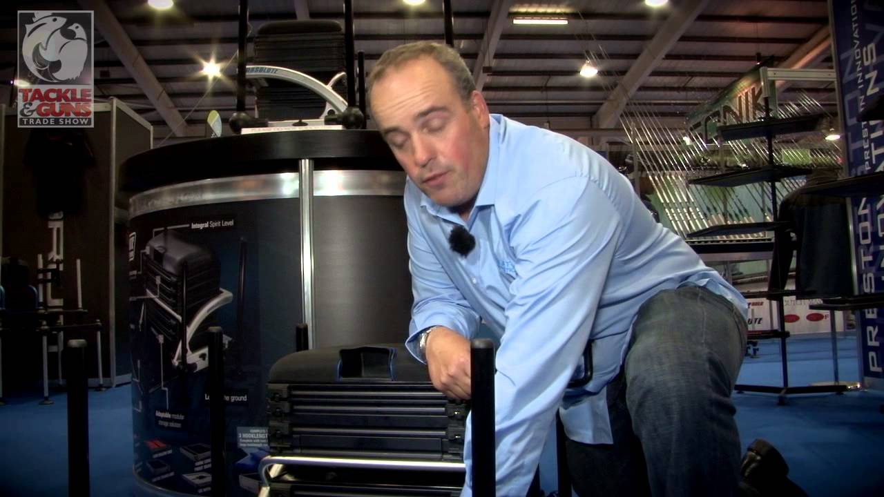 Des Shipp introduces the new seat box from Preston Innovations    'The  Absolute Station'