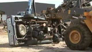 Cash for Clunkers: how to destroy Vehicle blow up engine crush kill truck Chevrolet crusher