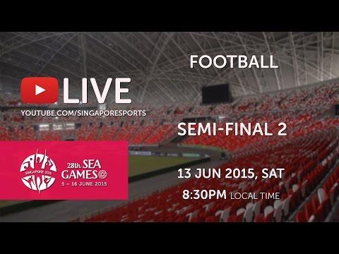 Football Semi-Final Thailand vs Indonesia | 28th SEA Games Singapore 2015
