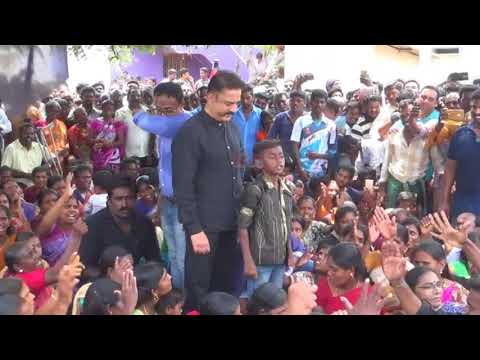 Kamal Haasan addresses people protesting against the Sterlite copper plant
