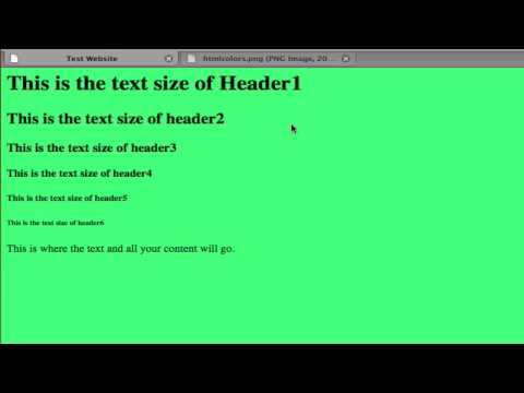 HTML For Beginners | Lesson 2: Background Color & Common Tags