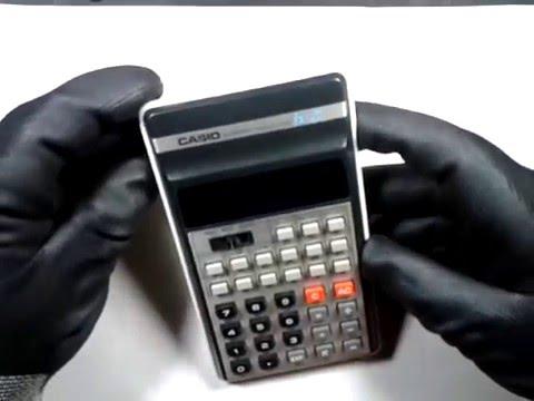 Broken graphing calculator taken apart.