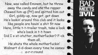 Bad Meets Evil - Fast Lane with Lyrics (HQ)