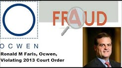Ocwen Loan Servicing, Ronald M Faris, HSBC Bank Violating 2013 Court Order