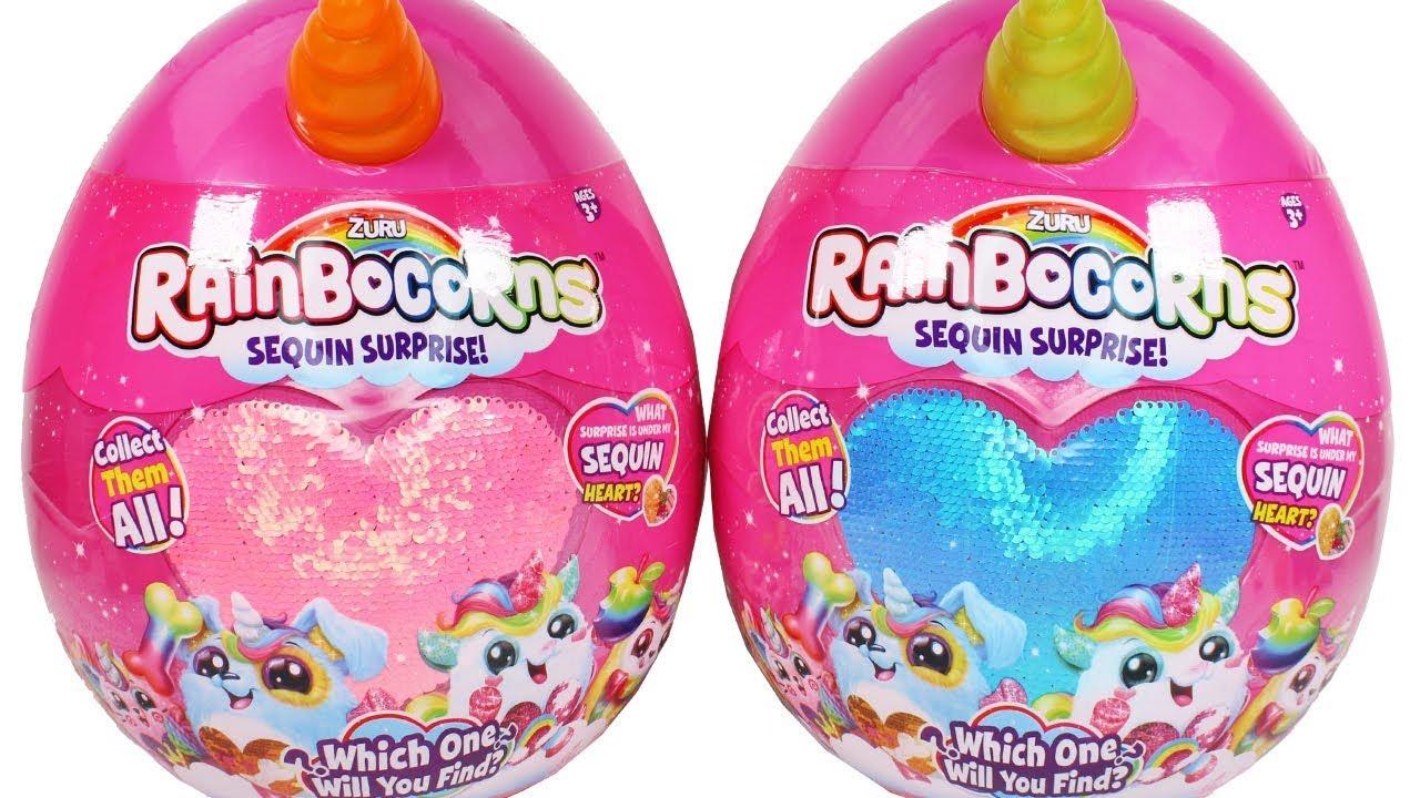 Zuru Rainbocorns Sequin Surprise Egg Unboxing Toy Review ...