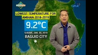 UB: Weather update as of 6:18 a.m. (January 30, 2019)