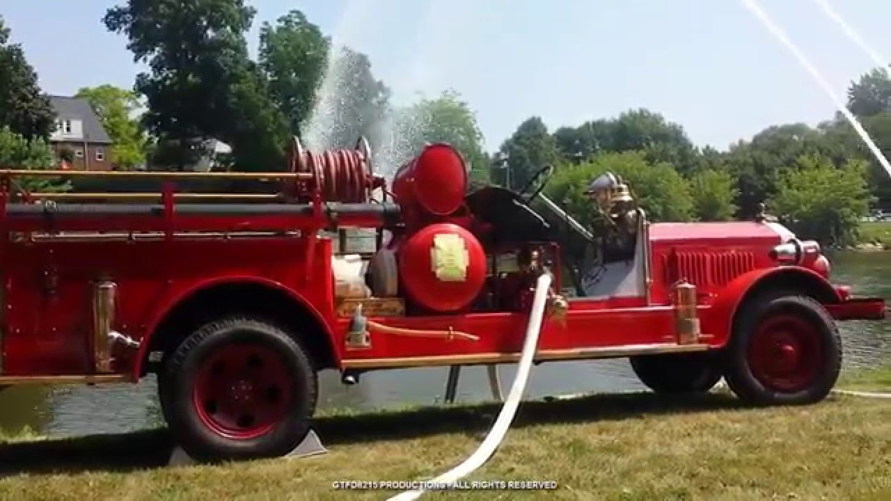 Lots and lots of fire trucks - Antique fire apparatus - YouTube