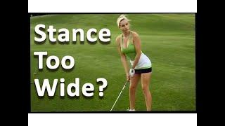 Golf Stance Width - 60 Sec. Golf Tips