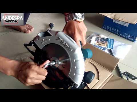 "circular-saw-benz-7""-pakai-mata-pisau-makita-(unboxing&testing)"