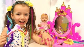 Ulya Going to the Cinema Dress Up and do Makeup! Funny story for kids