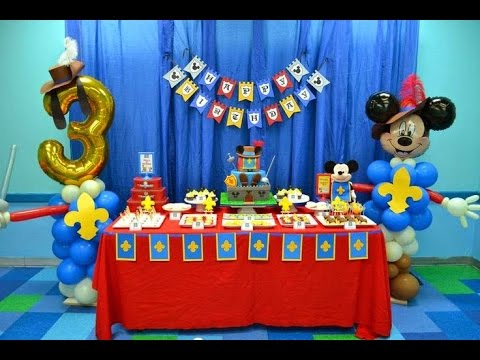 Ideas para decorar una fiesta de mickey mouse youtube for Decoracion la casa de mickey mouse