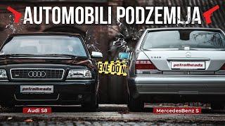 AUTOMOBILI PODZEMLJA! Audi S8 D2 - MercedesBenz S W140 Slon