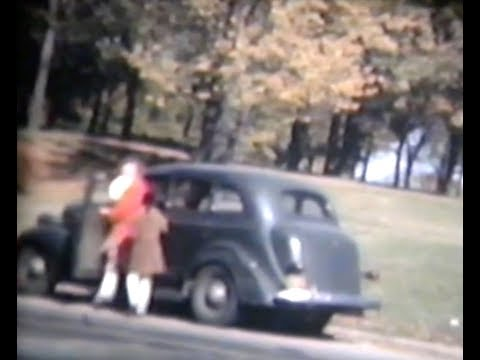 Washington Park in Autumn 1944 Color Film Home Movie Milwaukee WI